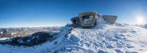 Zaha Hadid, Messner Mountain Museum, il cui modello è visibile al MAXXI