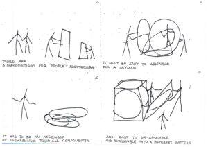 Yona Friedman, Architetture Mobili, Fumetto Esplicativo, MAXXI