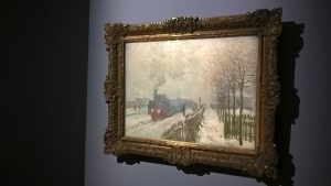 Monet, Il treno nella neve. La Locomotiva, 1875