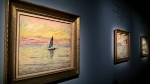 Monet, Barca a vela. Effetto sera, 1885