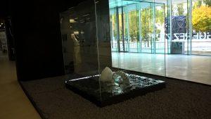 Michel Comte, scultura/installazione Light, lobby del MAXXI