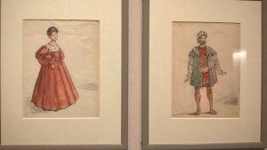 Giorgio de Chirico, Figurini per Otello e Desdemona (Rossini), 1964, Artisti all'opera, Palazzo Braschi