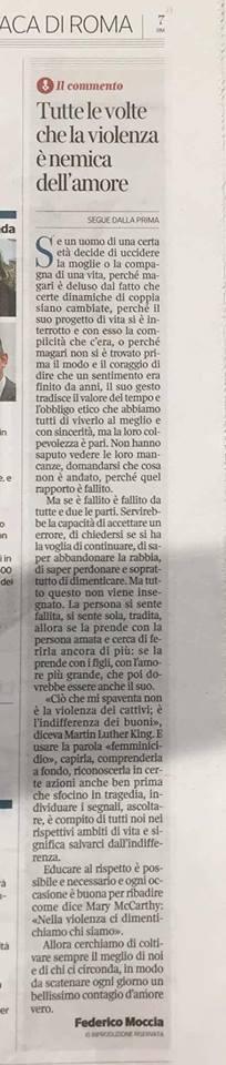 federico moccia - femminicidio 2018 in Italia