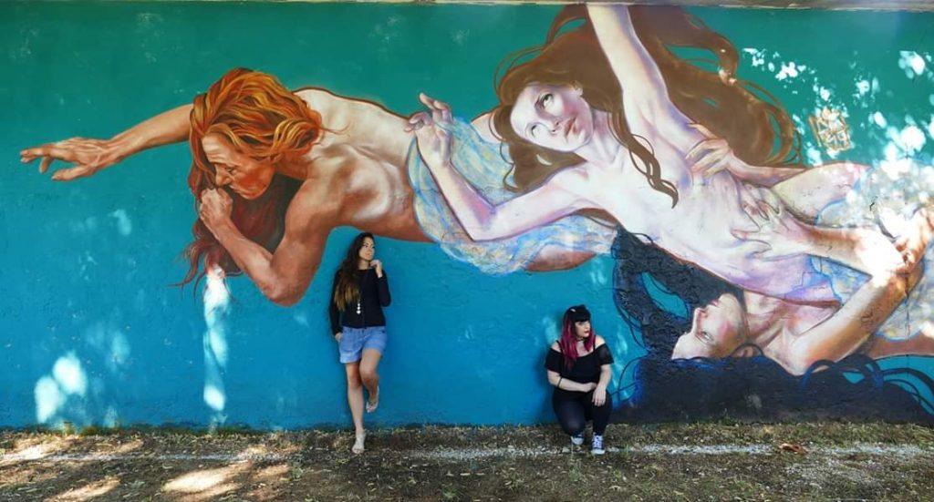 streetart roma - ratto delle sabine
