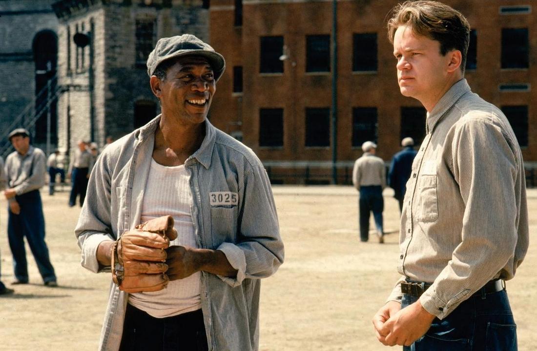 Le ali della libertà. Tim Robbins e Morgan Freeman