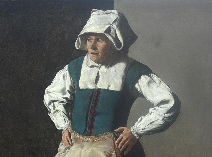 Georges de La Tour, Donna anziana, Fine Arts Museums, San Francisco, Stati Uniti, dettaglio
