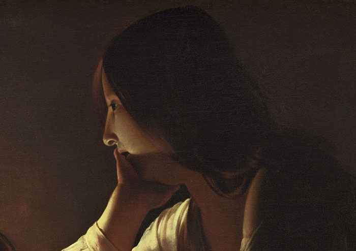 Georges de La Tour, Maddalena penitente, National Gallery of Art, Washington D.C., Stati Uniti
