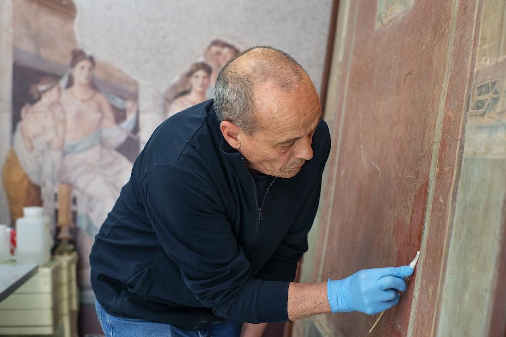 Fotografie sul set del film documentario Agalma sul Museo Archeologico Nazionale di Napoli di Doriana Monaco